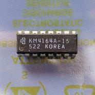 Samsung-KM4164A-15-64Kx1-8KB-150ns-16-pin-DIP-RAM-DRAM-memory-chip-vintage-retro-80s