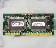 Mitsubishi-MH512G64DAKN-10-COMPAQ-320821-002-4MB-100MHz-144-pin-SO-DIMM-SGRAM-memory-module-vintage-retro-90s