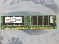 HP-1818-8149-Infineon-HYS64V8300GU-7.5-C-64MB-PC133-CL3-168-pin-DIMM-SDRAM-memory-module