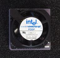 Intel-Pentium-Overdrive-PODP5V83-SU014-83MHz-socket-2-3-486-upgrade-processor-w--cooler-486DX4-i486-CPU-fan-vintage-retro-90s