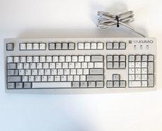 Yakumo-Cherry-LR-63292-G83-6248LANUS-00-QWERTY-5-pin-DIN-white-PC-keyboard-AT-386-486-Pentium-vintage-retro-90s