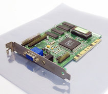 Diamond-Stealth-3D-2000-S3-Virge-2MB-VGA-graphics-video-PCI-PC-card-adapter-Pentium-Windows-95-vintage-retro-90s