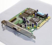 Diamond-Stealth-Video-2500-Alliance-ProMotion-AT24-2MB-VGA-graphics-video-PCI-PC-card-adapter-Pentium-Windows-95-vintage-retro-90s