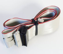 3.5-&-5.25-PC-floppy-disk-drive-34-pin-internal-flat-ribbon-twisted-cable-89cm-w--card-edge-connector-FDD-3.5-5.25-inch-vintage-DOS