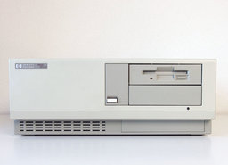 HP-Hewlett-Packard-Vectra-QS-20-386SX-MS-DOS-Windows-3.x-desktop-PC-386-ISA-parallel-LPT-vintage-retro-90s