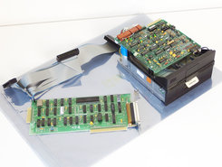 Tandon-TM-100-2A-5.25-360KB-DS-DD-internal-full-height-floppy-disk-drive-FDD-black-front-PC-+-6181682XM-interface-8-bit-ISA-adaptor-card-controller-+-cables-IBM-5150-5160-vintage-retro-80s