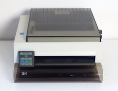 IBM-Proprinter-III-dot-matrix-printer-w--centronics-interface-continuous-feed-paper-PS-2-vintage-retro-90s