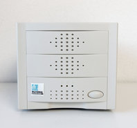 New-external-dual-5.25-Wide-SCSI-2-HD68-white-metal-case-enclosure-68-pin-CD-ROM-hard-disk-drive-HDD-NOS-NIB-beige-vintage-retro-90s