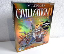 Apple-Macintosh-CD-ROM-game-Multiplayer-Civilization-II-Gold-Edition-MacSoft-Micro-Prose-big-box-strategy-vintage-retro-90s-Mac