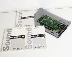 Creative-CT2950-Sound-Blaster-16-audio-CD-ROM-controller-16-bit-ISA-PC-card-+-Yamaha-Sound-Daughter-Board-DB50XG-MIDI-wavetable-286-386-486-Pentium-DOS-Windows-vintage-retro-90s