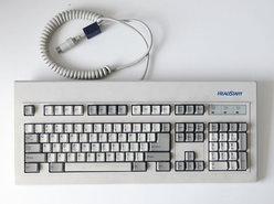 HeadStart-P-N-HEAD-STR-00261-NMB-Technologies-model-RT-101-QWERTY-mechanical-switch-click-5-pin-DIN-white-PC-XT-AT-keyboard-DOS-8088-286-386-486-Pentium-vintage-retro-90s