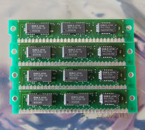 Set-4x-OKI-MSC2329-10YS3-256KB-1MB-kit-100ns-30-pin-SIMM-parity-RAM-memory-modules-vintage-retro-80s